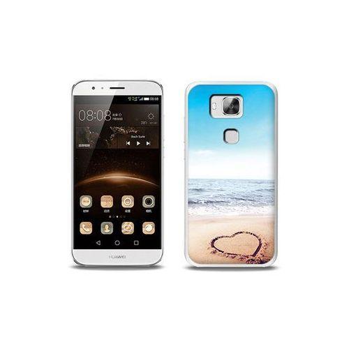 Foto case - huawei gx8 - etui na telefon foto case - serce na piasku wyprodukowany przez Etuo.pl