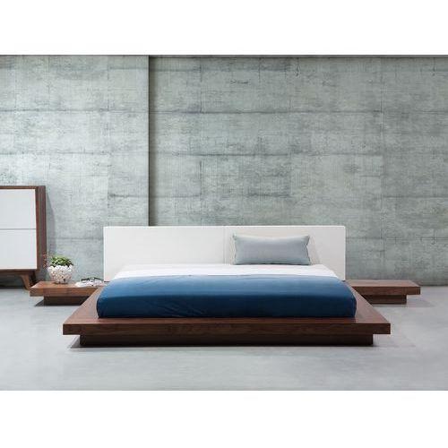 Beliani Łóżko jasnobrązowe - 180x200 cm - łóżko drewniane - styl japoński - zen