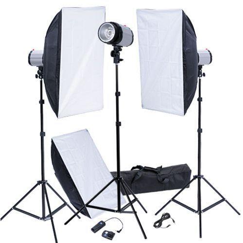 Vidaxl  zestaw studio: lampy, softboksy 50 x 70 cm i wyzwalacz (8718475815013)