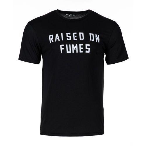 FOX koszulka męska Raised on Fumes SS Tech L czarna, 1 rozmiar