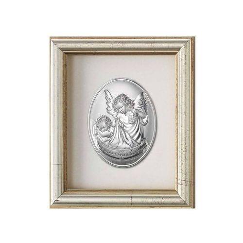 Obrazek anioł stróż z latarenką w ramce za szkłem - (v#797) marki Valenti & co