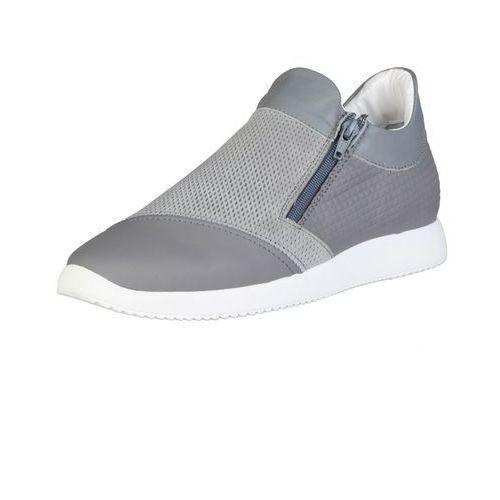 Męskie buty sneakersy giulio szare marki Made in italia