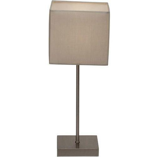 Lampa stołowa Aglae Brilliant 94873/22, E14, 1 x 40 W, 230 V, (DxSxW) 15 x 15 x 43.5 cm, szary, chrom (satynowy)