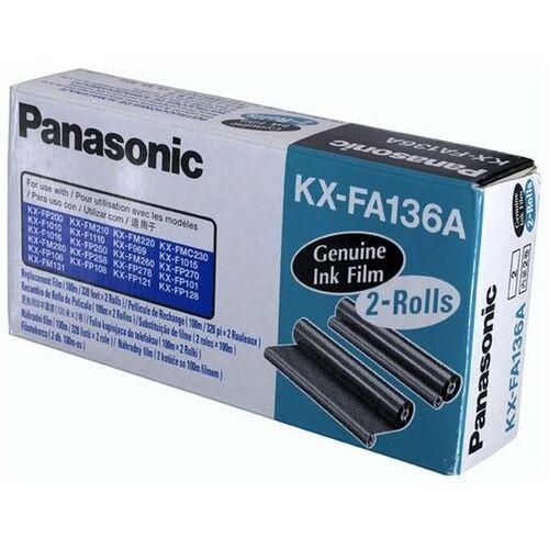 Panasonic Wyprzedaż oryginał folia do faksów kx-f1110/1015 kx-fp121/131pd | 2 x 336 str. | czarny black, 1 sztuka z dwupaka, pudełko otwarte