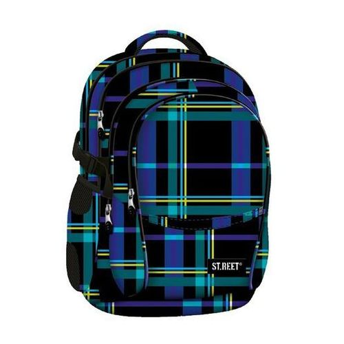 St.reet plecak szkolny bp-01 krata niebieska 609350 od producenta St. majewski