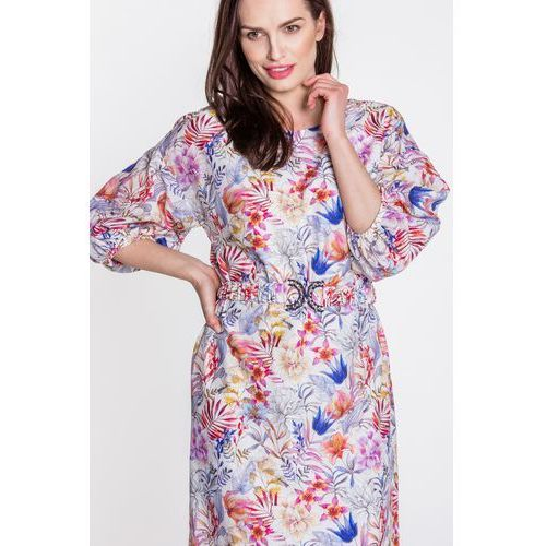 Sukienka w barwny deseń - Potis & Verso, 1 rozmiar