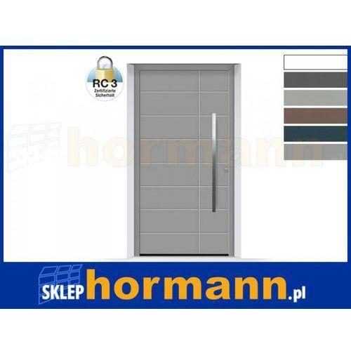 Drzwi aluminiowe ThermoSafe 2018, Wzór 862, kolor do wyboru, przeciwwłamaniowe RC 3