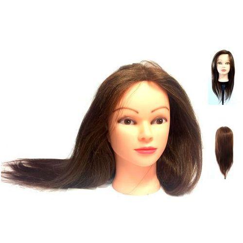 Główka głowa fryzjerska treningowa 60 Włos Natura