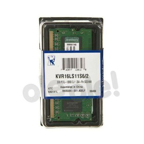 Kingston DDR3 2GB KVR16LS11S6/2 SODIMM - produkt w magazynie - szybka wysyłka! (0740617228328)