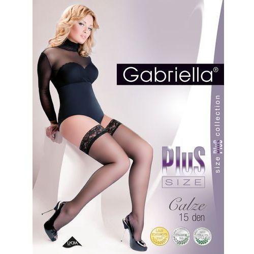Pończochy plus size 164 5-6 15 den 5/6-xl/2xl, beżowy/beige, gabriella, Gabriella