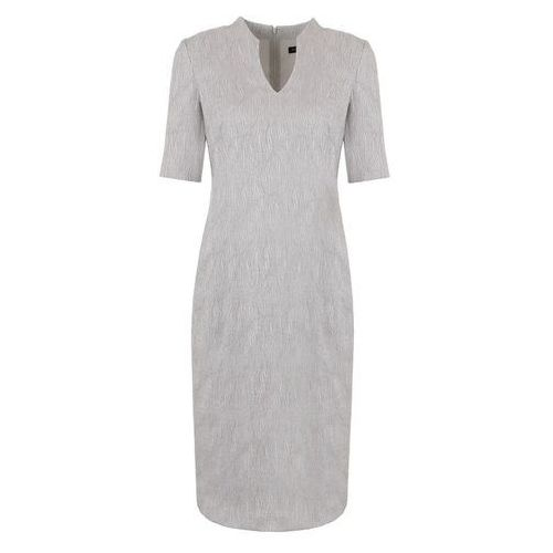 Sukienka ze strukturalnej tkaniny (Kolor: szary, Rozmiar: 44)