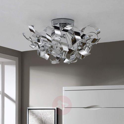 Lampenwelt Piękna chromowa lampa sufitowa elviro