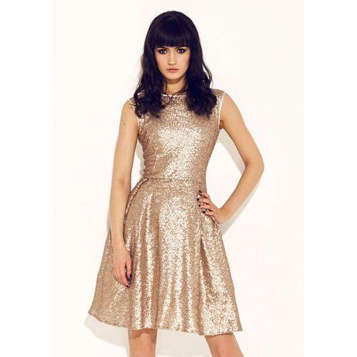 Sukienka Rita w kolorze złotym
