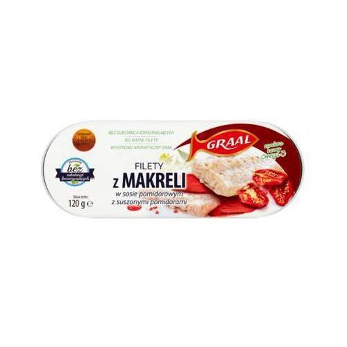 120g filety z makreli w sosie pomidorowym z suszonymi pomidorami marki Graal