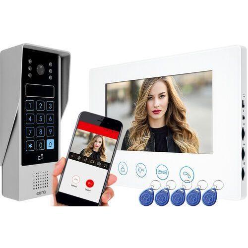 Wideodomofon IP EURA VDP-90A3 DELTA biały 7'' WiFi otwieranie 2 wejść szyfrator czytnik zbliżeniowy, VDP-90A3