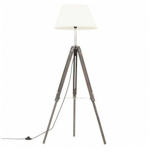 Lumes Szaro-biała lampa podłogowa z regulacją wysokości - ex199-nostra