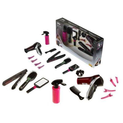 KLEIN 5873 Zestaw fryzjerski BRAUN dla dzieci suszarka prostownica