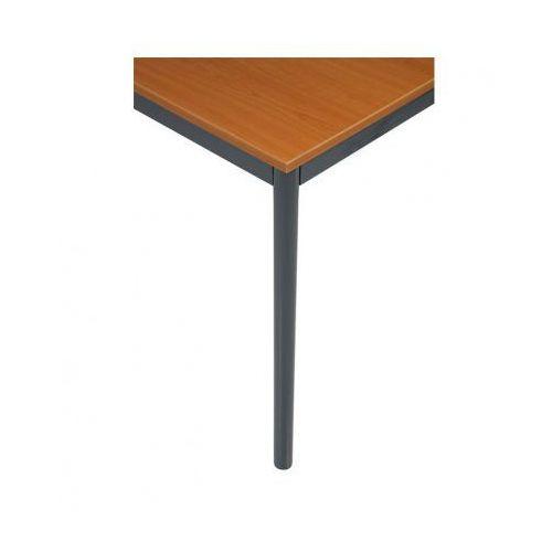 B2b partner Stół kuchenny - okrągłe nogi, ciemnoszara konstrukcja, 1600x800 mm