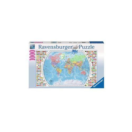 Ravensburger Raven. 1000 el. mapa polityczna świata - . darmowa dostawa do kiosku ruchu od 24,99zł