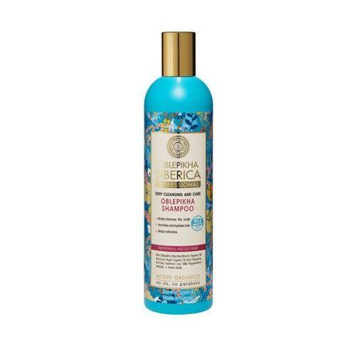Natura siberica 400ml rokitnikowy szampon do włosów normalnych i przetłuszczających się marki Eurobio lab