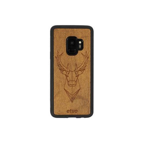 Samsung Galaxy S9 - etui na telefon Wood Case - Jeleń - imbuia, ETSM671WOODJEI000