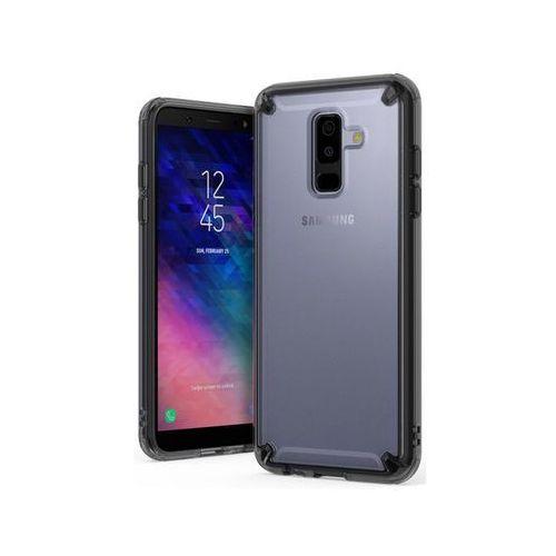 Etui Ringke Fusion Galaxy A6 Plus Smoke Black +3x Szkło I.D. - Czarny