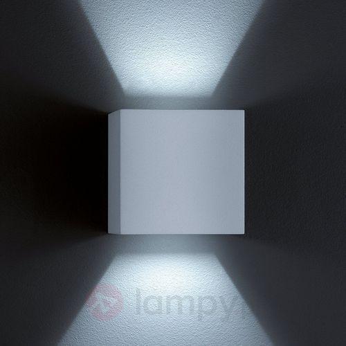 Zewnętrzna lampa ścienna siri 44 led, srebrnoszara marki Helestra