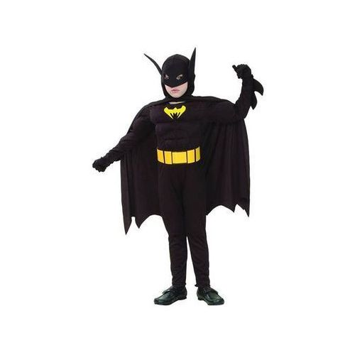 Kostium Batman z mięśniami - M - 120/130 cm, STNTP-LU120