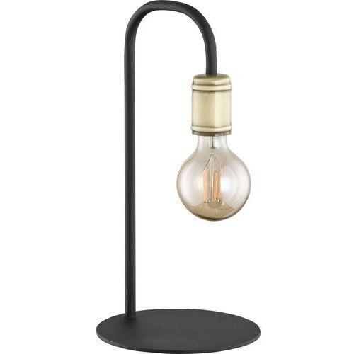 Tklighting Lampa stołowa lampka edison tk lighting retro 1x60w e27 czarna / złota 3023 (5901780530235)