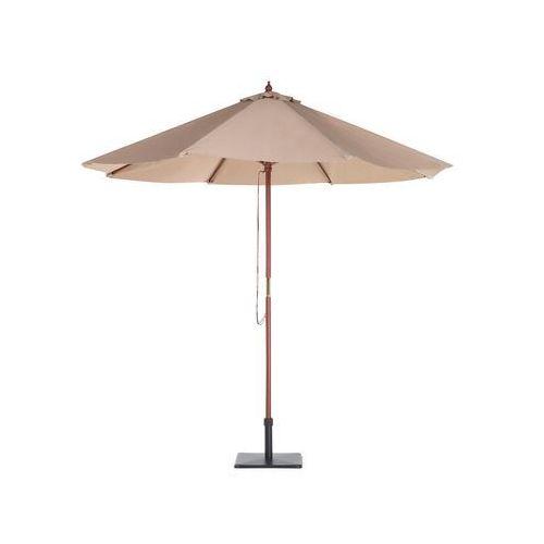 Parasol ogrodowy - ciemnoniebieski - 244 x 195 cm - drewno – FLAMENCO (7105273497830)