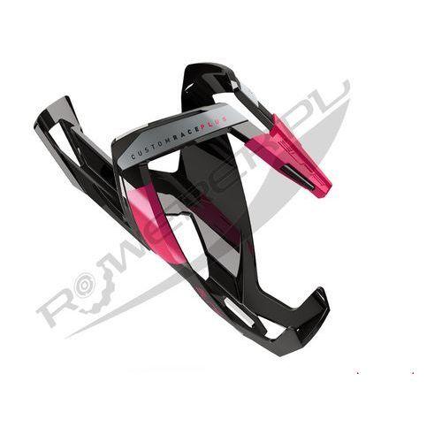 Koszyk na bidon ELITE Custom Race Plus czarny-różowy / Wykończenie: połysk