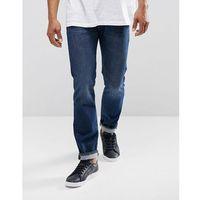 501 original straight fit jeans fire island warm dark wash - navy, Levis