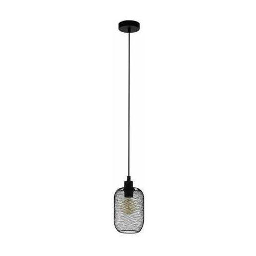 Eglo Wrington 43332 lampa wisząca zwis 1x60W E27 czarna/szara (9002759433321)