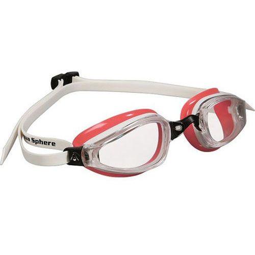 Aquasphere okulary k180 lady jasne szkła biały-czerwony marki Aqua sphere