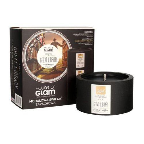 House of glam świeca modułowa zapachowa czarna lost in great library 200g (5907512657232)