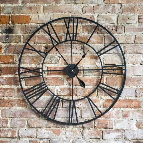 Duży metalowy zegar ścienny RETRO loft 60 cm