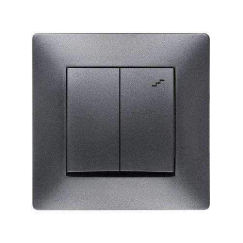 volante łącznik podwójny schodowy grafitowy 2618-08 marki Elektroplast