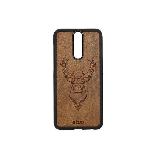 Huawei mate 10 lite - etui na telefon wood case - jeleń - imbuia marki Etuo wood case