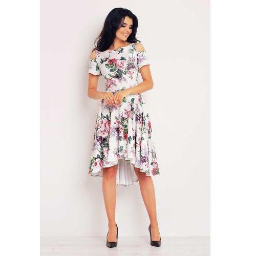 Asymetryczna sukienka z wyciętymi ramionami, Infinite you, 36-42