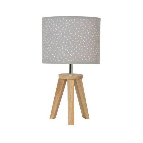 Yoga-lampa stojąca statyw drewno naturalne & bawełna wys.33cm marki Corep