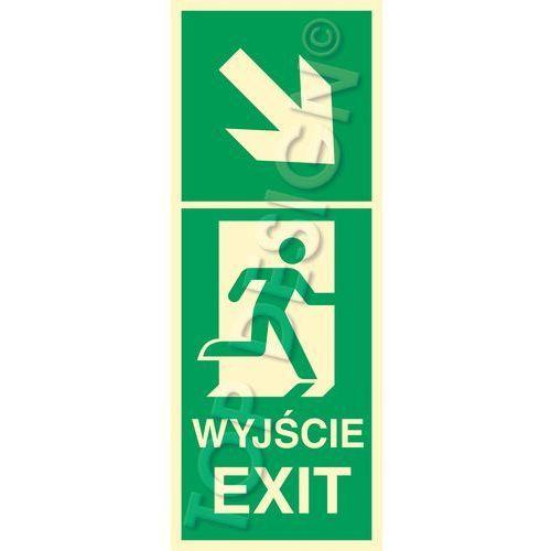 Kierunek do wyjścia w prawo w dół prawostronny / Right and down to Exit right side