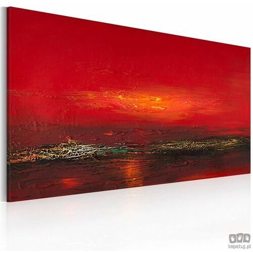 Artgeist Obraz ręcznie malowany czerwony zachód słońca nad morzem