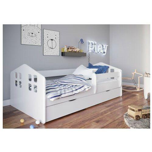 Białe łóżko dziecięce z barierką 80x160 - Flavio, łóżko-Kacper