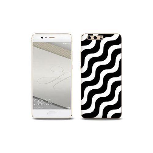 Fantastic Case - Huawei P10 Plus - etui na telefon Fantastic Case - biało-czarna fala, kolor wielokolorowy