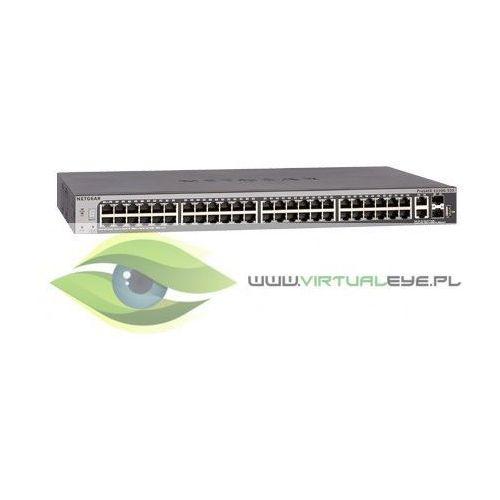 Switch s3300 smart 48x1ge 2x10ge 2xsfp+ stack - gs752tx marki Netgear
