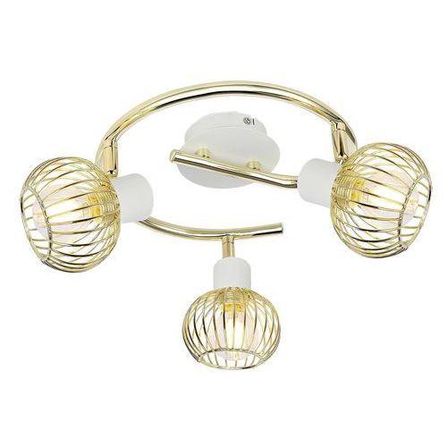 Candellux oslo 98-61829 lampa punktowa 3x40w e14 biały + złoty
