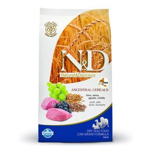 Farmina N&D Low Grain Maxi Adult, jagnięcina i borówki - 2 x 12 kg (8010276022141)