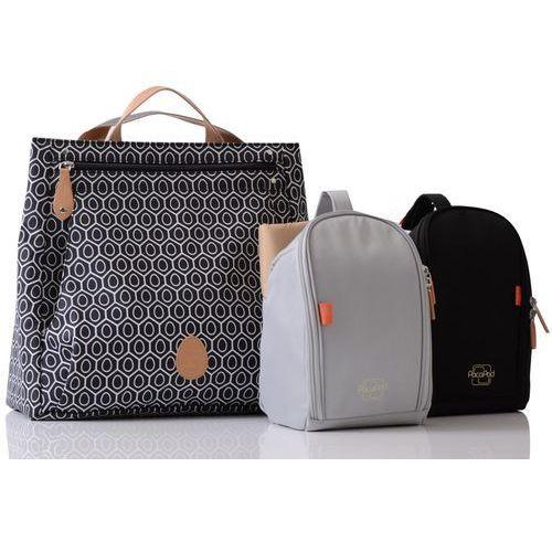 Pacapod torba do wózka dla mamy 3w1 lewis czarna ze wzorem (5060177932080)