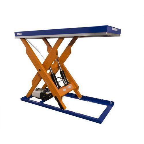 Kompaktowy stół podnośny, nośność 2000 kg, dł. x szer. platformy 2000x900 mm, po marki Edmolift hebetechnik