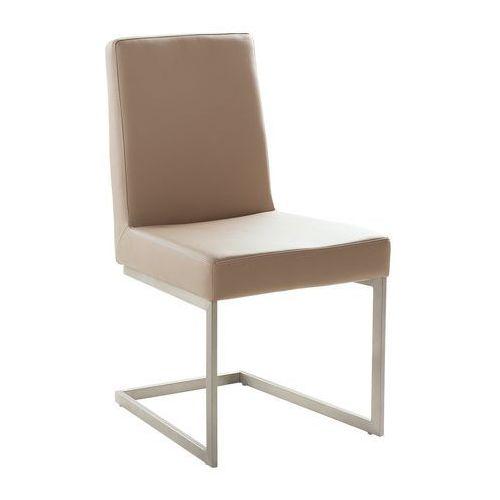 Krzesło do jadalni café latte stal nierdzewna ARCTIC, kolor beżowy